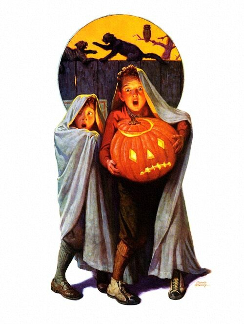 Halloween Scare, art by Frederic Stanley