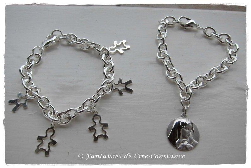 bracelets argent massif Edith Vierge et enfants-1