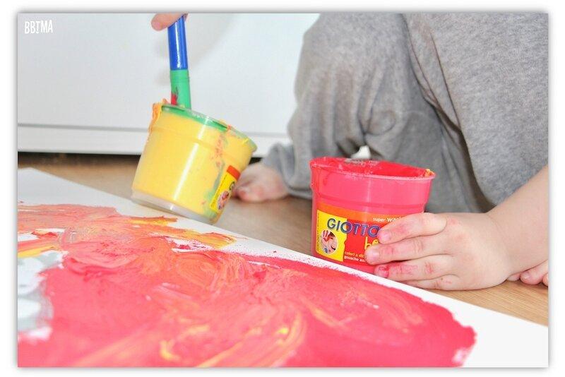 7 diy tuto giotto ambassadrice fila tableau peinture paint kids enfant activité motricité imagination créativité loisirs créatif couleur bbtma blog