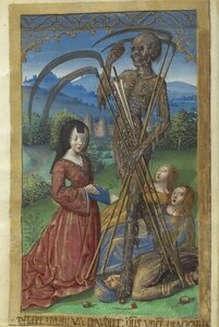 Denise-Poncher-before-a-Vision-of-Death-ca1500 Getty Museum