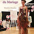 Encore des photos du défilé de robes de mariées, robe mariage marron chocolat