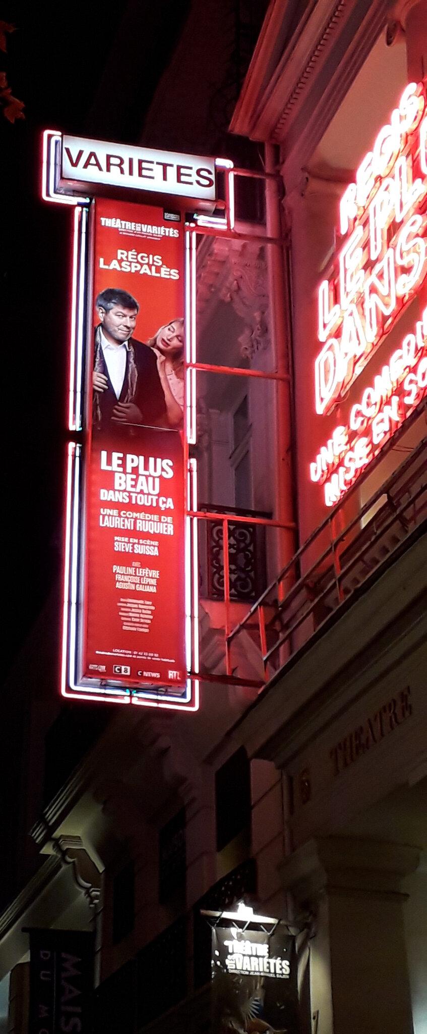 Sortie Théâtre à PARIS le 30 novembre 2019