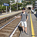 Le train-stoppeur (Bonassola, août 2016)