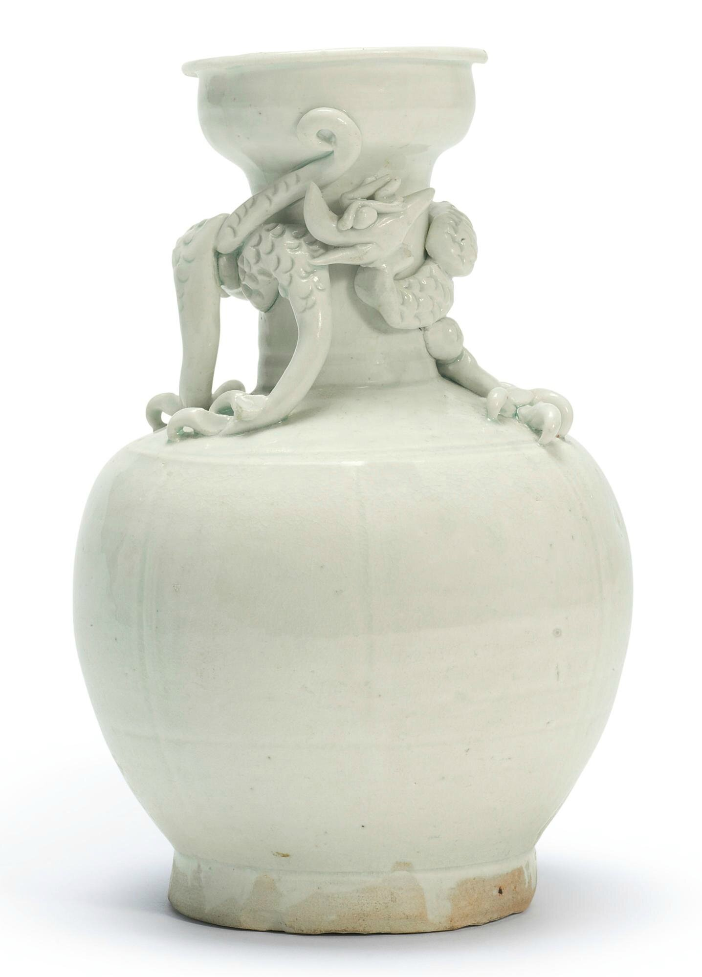 A 'Qingbai' 'Dragon' Vase, Southern Song Dynasty
