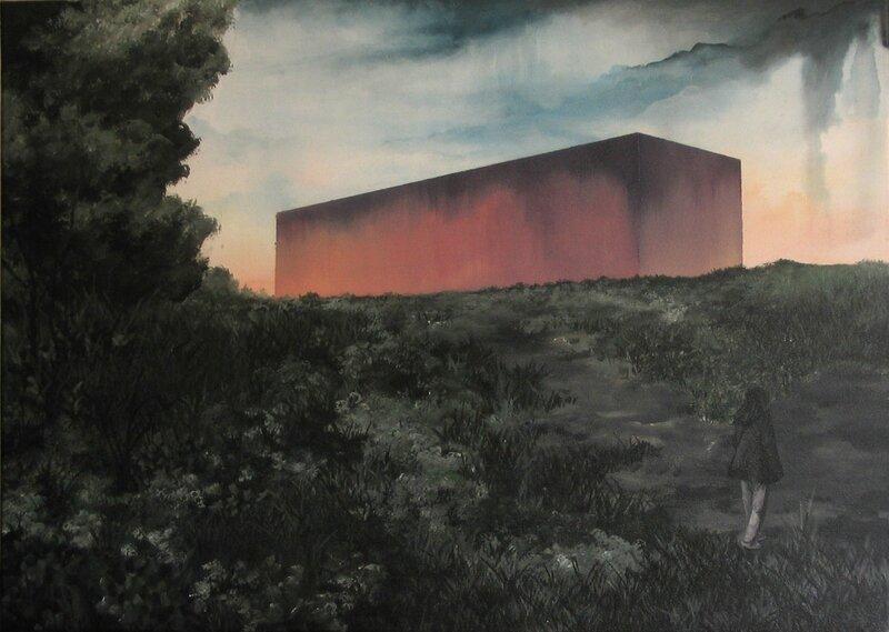 Linda Roux, A family V, acrylique sur toile, 70 x 50 cm, 2009