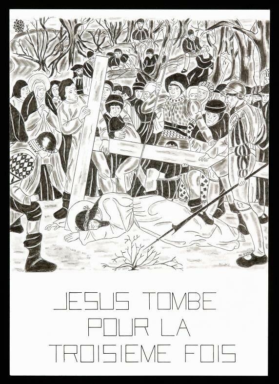 9- Jésus tombe pour la troisième fois