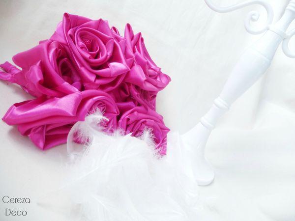 bouquet mariage cabaret fuchsia blanc plumes planche inspiration 6