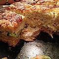 Croc-cake au saumon courgettes
