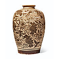 A rare painted jizhou bottle, southern song dynasty (1127-1279)