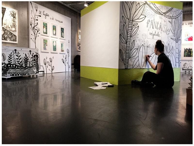 illustration géante à coloriser / Expo Fantaisie Végétale