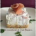 Cheese cake au saumon
