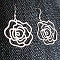 B.o. estampes roses argent
