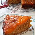 Gâteau abricot et caramel