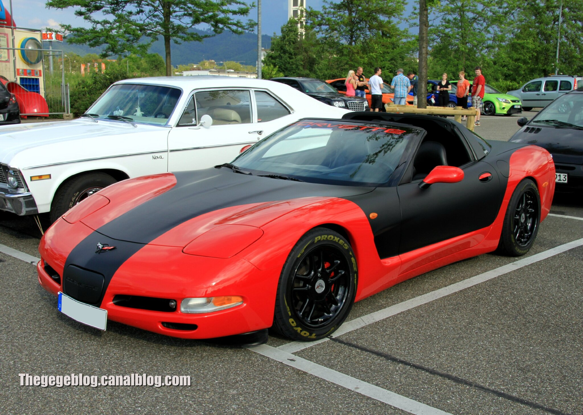 Chevrolet corvette C5 (Rencard Burger King juin 2013) 01