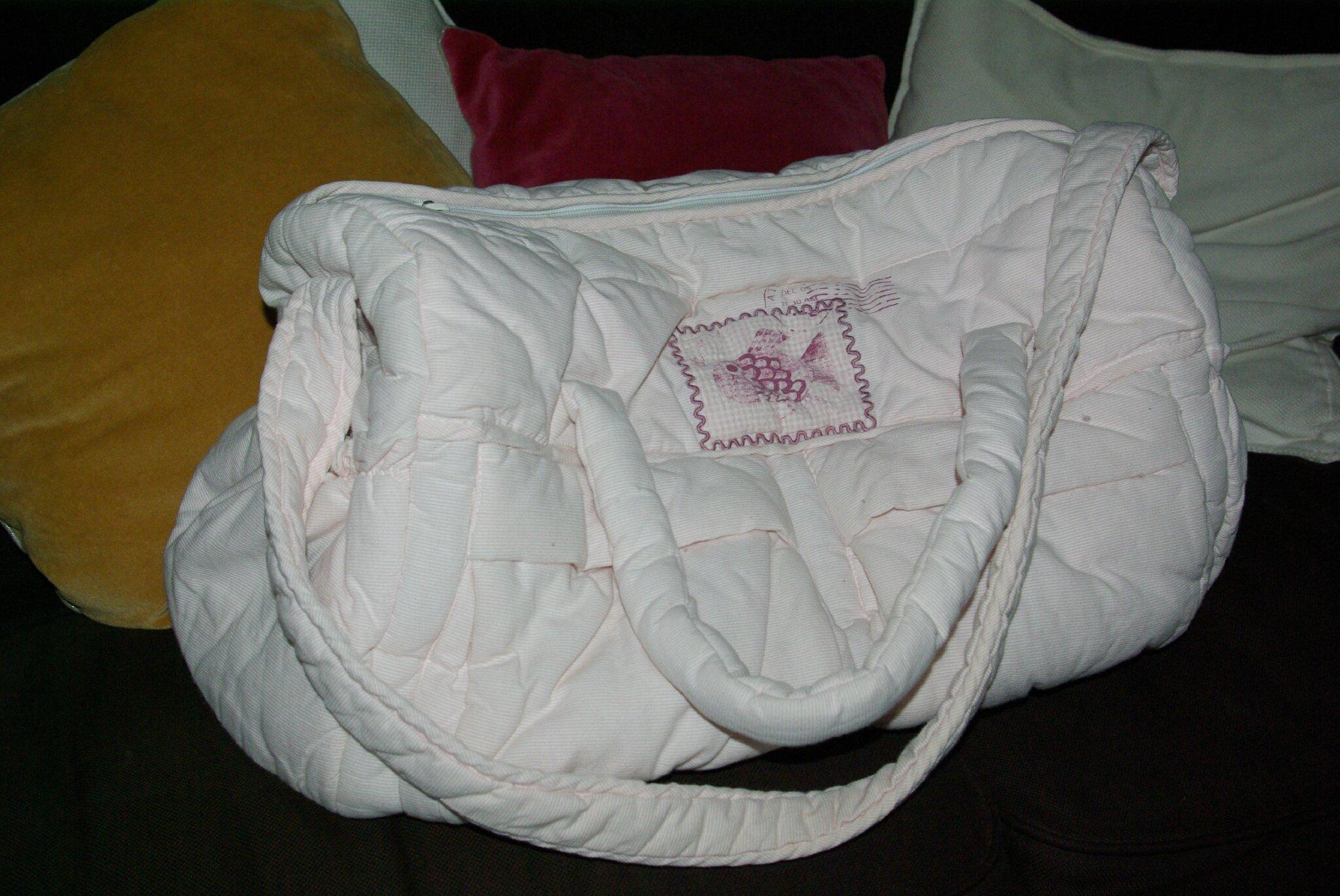 Grand sac à langer rose pâle DPAM 12 E