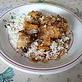 Cuisses de poulet et sauce au citron