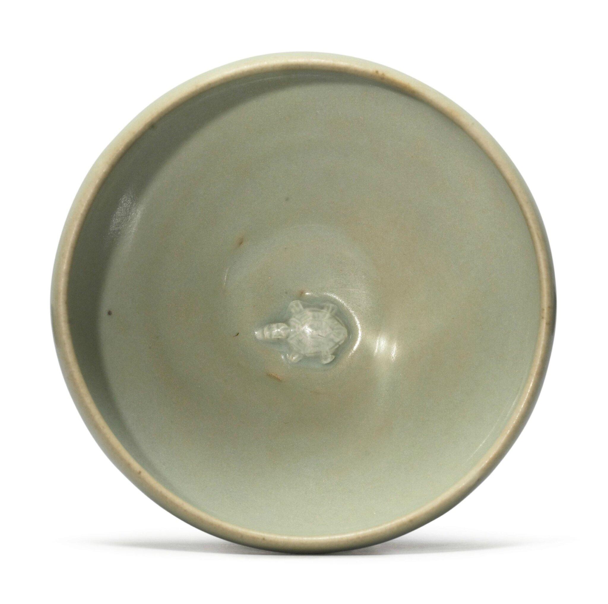 A 'Yaozhou' celadon-glazed 'turtle' bowl, Five Dynasties