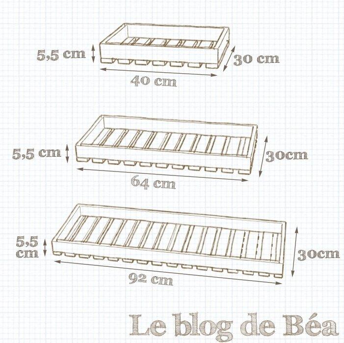 Etagère escabeau fabriquée en bois de palette