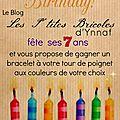 Blog anniversaire, jeu concours