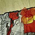 Culotte CHARLOTTE en coton imprimé Marvel - noeud de mousseline rouge - taille L(2)