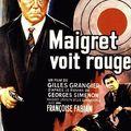 Gilles grangier. maigret voit rouge. 1963.