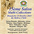 Salon multi-collections à lurcy-lévis le 25 octobre 2015.