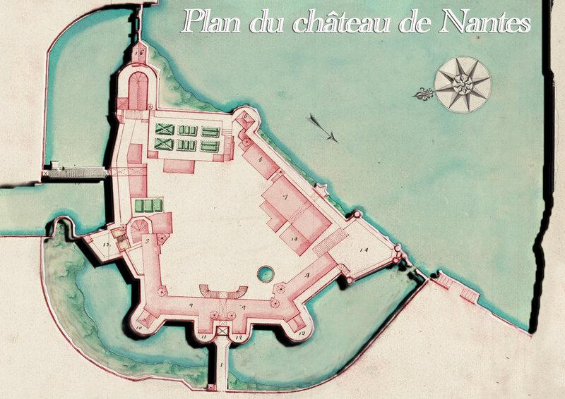 Plan du château de Nantes