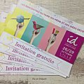 Invitations salon idcréatives de lille...
