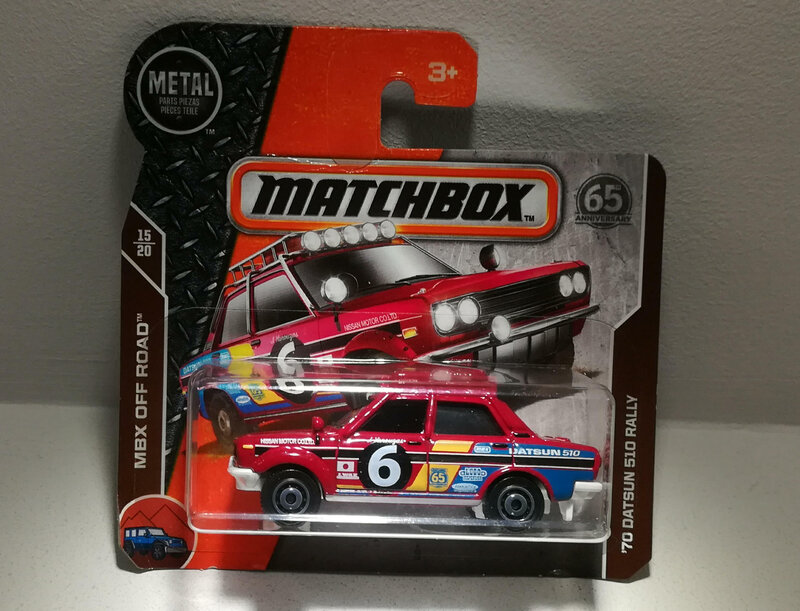 Datsun 510 Rally de 1970 (Matchbox)