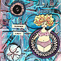 Summer lady - art journal