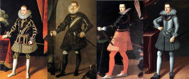 Trousses espagnoles et italiennes années 1610