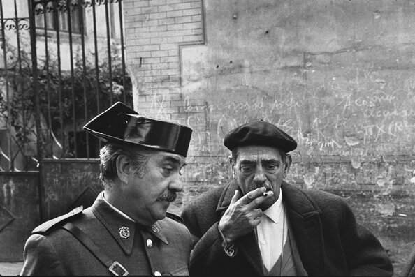Luis Bunuel and Fernando Rey on the Set of TristanaToledo Spain 1969