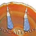 Boucle-oreille quartz bleu 3