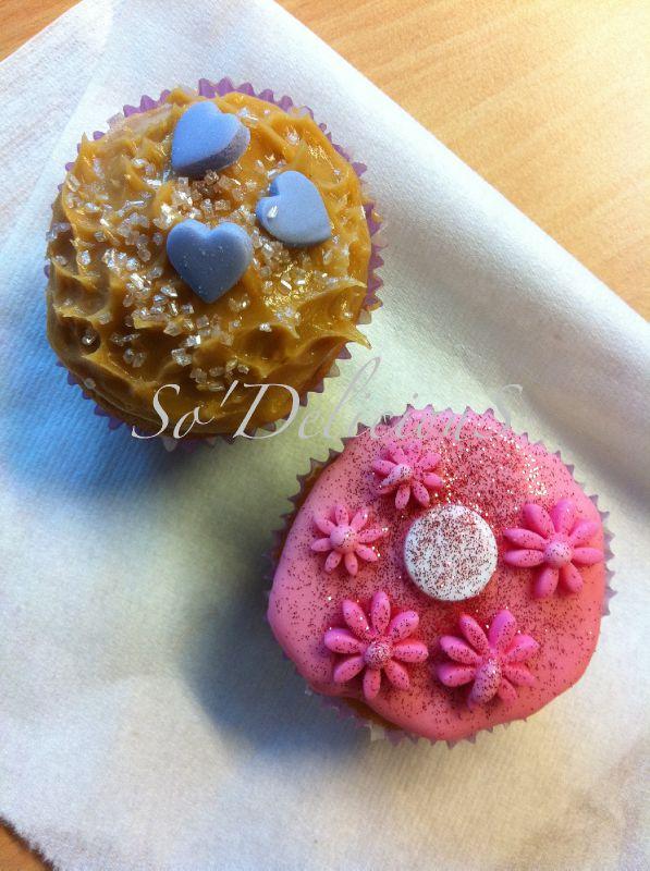 Cupcakes Beurre de cacahuète et citron/framboises
