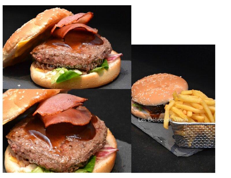 smoked burger, burger fumé, sauce barbecue, burger maison