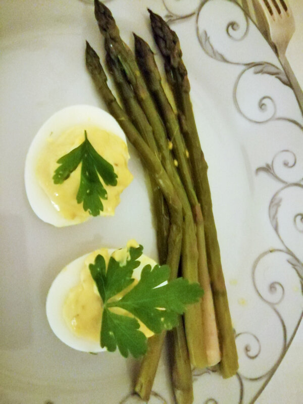 oeufs mayonnaise asperges