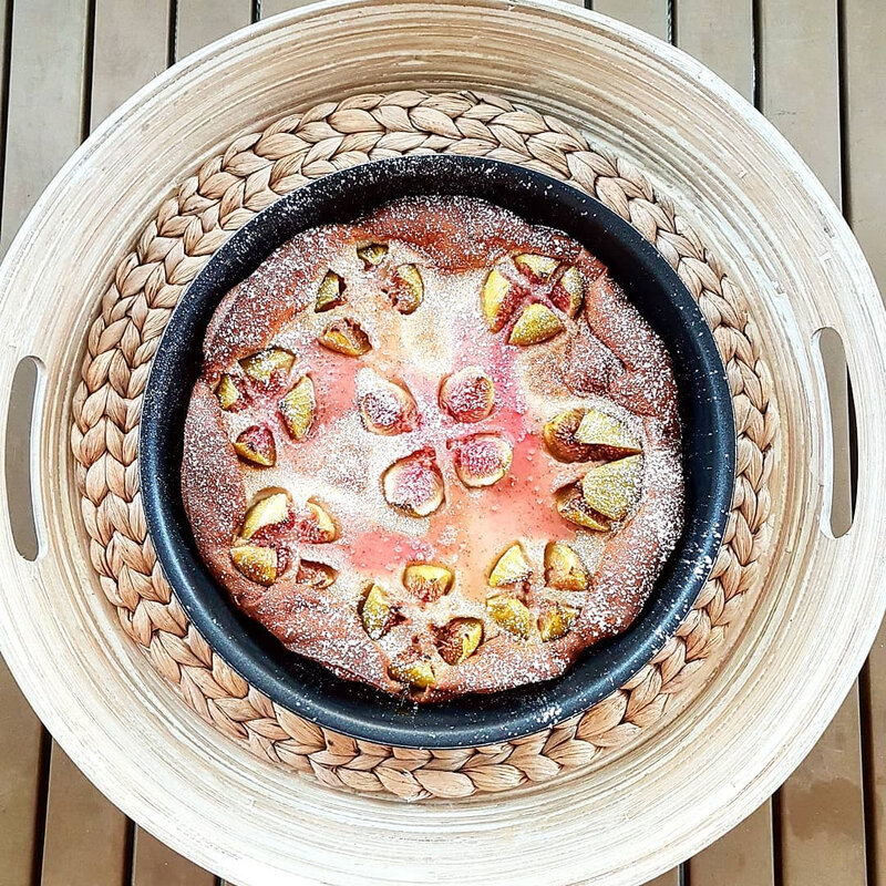 chez cathytutu clafoutis figue mirabelle trop bon fleur de figue salade de beouf saute au soja cyril lignac tous en cuicine thomas dutronc