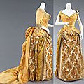 Evening ensemble, by the house of worth, ca. 1888
