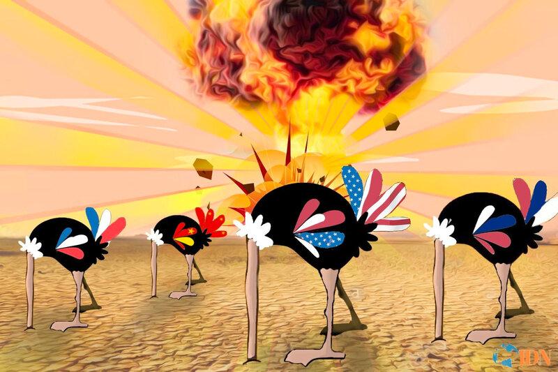 Autruches nucléaires - image IDN