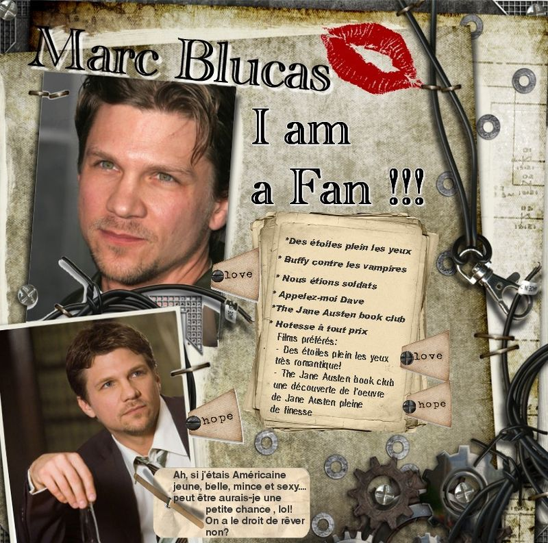 MARC BLUCAS: I AM A FAN!