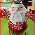 table de Noël rouge et anis 10