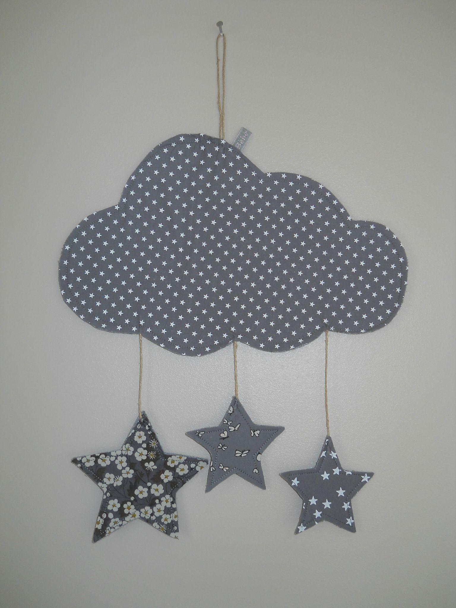 décoration nuage gris