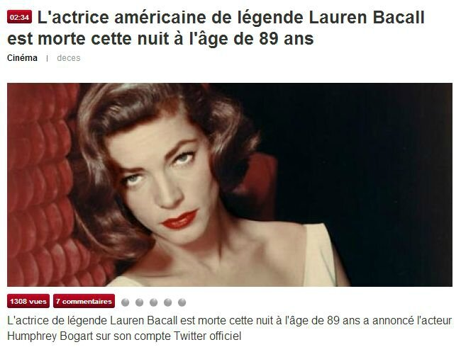 L Bacall
