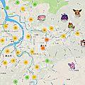 Il y a du pokemons à taipe (taiwan) et des carnarticho
