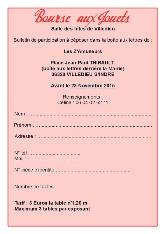 Tract Bourse aux jouets