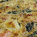 Tarte épinards et saumon fumé.
