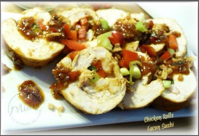 Chicken Rolls façon Sushi