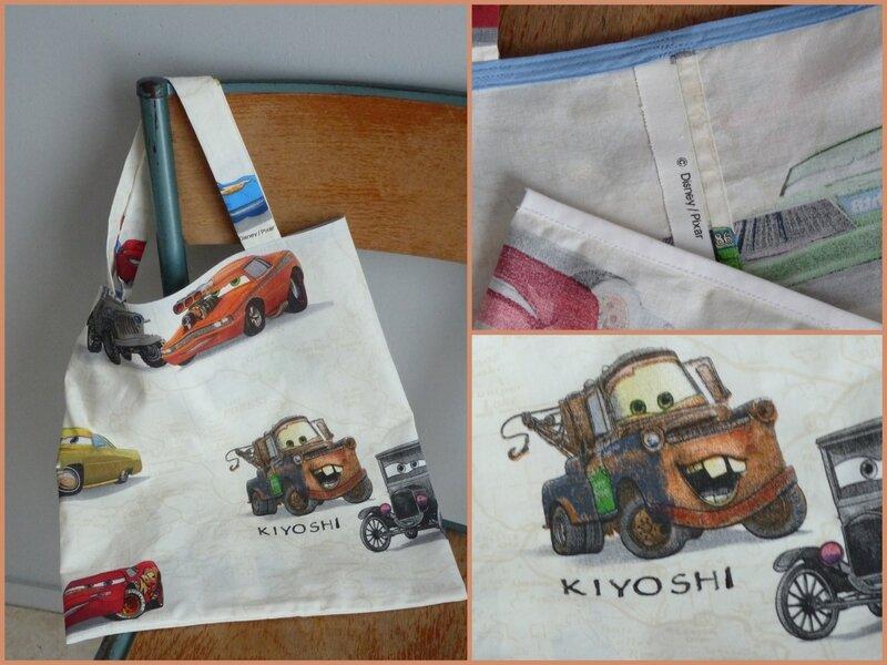 Kiyoshi - 2013-10-25 - sac de bibliothèque Cars