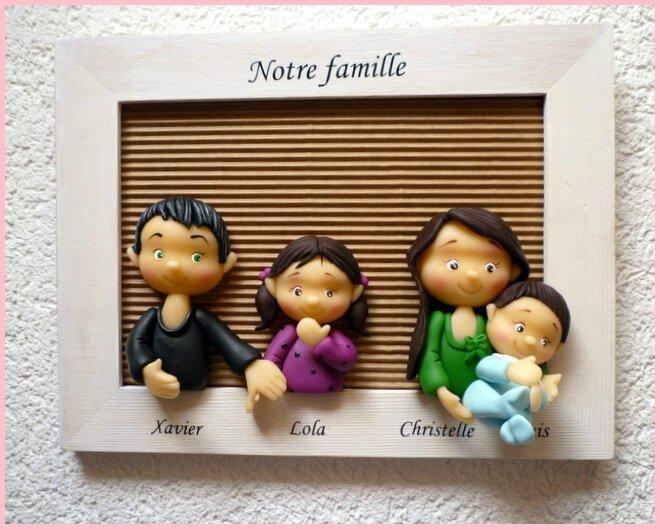 cadre de famille en porcelaine froide