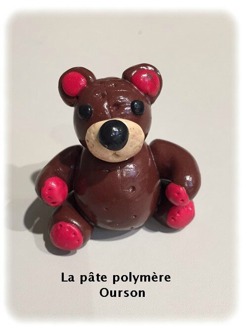 Atelier pâte polymère-ourson-Cultura villennes sur Seine-1